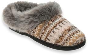 Dearfoams Women's Lurex Knit Clog Slippers
