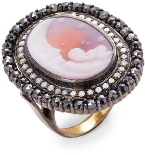 Artisan Women's Sweet baby and moon cameo Ring