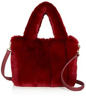 Street Level Faux-Fur Tote