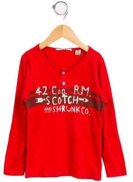 Scotch Shrunk Boys' Printed Long Sleeve Shirt