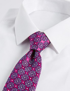 Marks and Spencer Pure Silk Geometric Print Tie