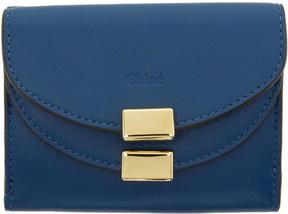 Chloé Blue Mini Georgia Wallet