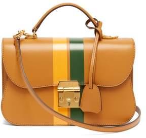 Mark Cross Dorothy Smooth Leather Shoulder Bag - Womens - Tan Multi