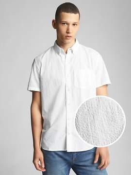 Gap Short Sleeve Print Shirt in Seersucker
