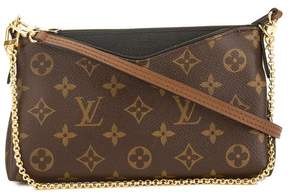 Louis Vuitton Black Monogram Canvas Pallas Clutch - BROWN - STYLE