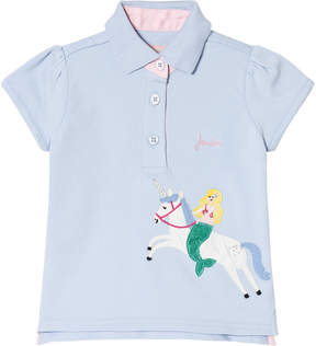 Joules Blue Unicorn Applique Polo Top