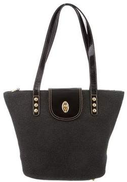 Eric Javits Leather-Trimmed Straw Bag