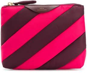 Anya Hindmarch stripes pouch
