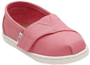 Toms Toddler's Canvas Flat Sneaker - Bubble Gum