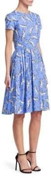 Carolina Herrera Zebra-Print Day Dress