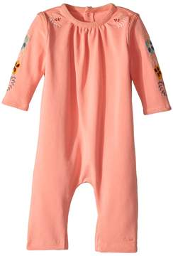 Chloé Kids - Soft with Embroideries Long Sleeve Bodysuit
