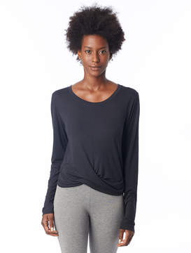 Alternative Apparel Long Sleeve Cotton Modal Twist Front T-Shirt