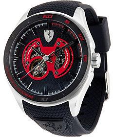 Ferrari Men's Silicone Strap Stainless Steel Gran Premio Watch