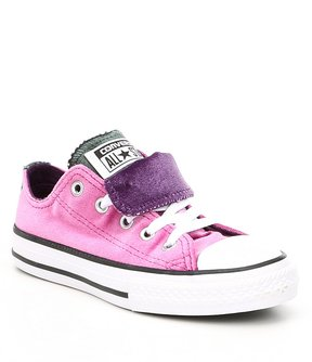 Converse Girls Chuck Taylor All Star Double Tongue Velvet Sneakers