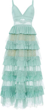Elie Saab Tiered Midi Dress