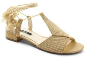 Kensie Katara Embroidered Wrap Sandals
