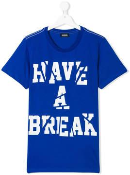 Diesel Have a Break printed T-shirt