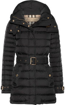 Burberry - Hooded Quilted Shell Down Jacket - Black