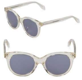 Alexander McQueen Tinted 50MM Round Sunglasses
