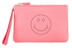 Anya Hindmarch Smiley Zip Pouch w/ Tags