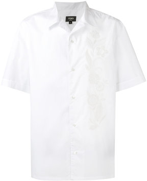 Fendi floral embroidered shirt