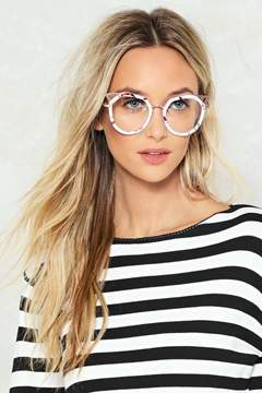 Nasty Gal nastygal Big Idea Marble Glasses