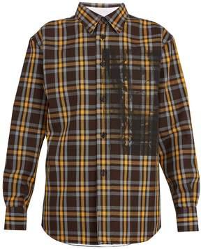Calvin Klein Checked wool shirt
