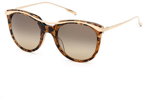 Salt Elkins Rounded Square Polarized Sunglasses, Tortoise/Gold