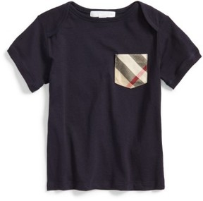 Burberry Infant Boy's 'Callum' Check Pocket T-Shirt