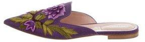 Alberta Ferretti Embroiders Pointed-Toe Mules