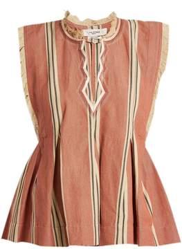 Etoile Isabel Marant Drappy sleeveless striped top
