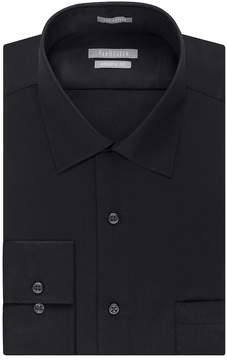Van Heusen Men's Fitted Athletic Solid Lux Sateen No Iron Spread Collar Dress Shirt