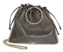 Balmain Studded Leather Drawstring Backpack