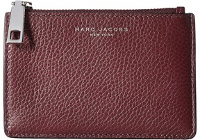 Marc Jacobs Recruit Top Zip Multi Wallet Wallet Handbags - BLACKBERRY - STYLE