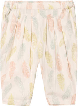 Mini A Ture Noa Noa Miniature Sand Dollar Feather Print Trousers