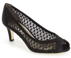 Adrianna Papell Women's 'Zandra' Crystal Embellished Peep Toe Pump