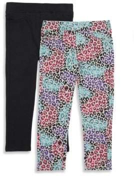 Vigoss Little Girl's Two-Piece Elasticized Pants