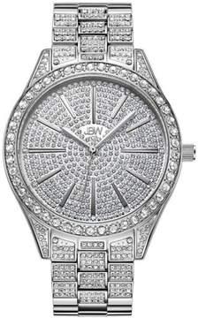 JBW Cristal 12-Diamond Silvertone Bracelet Watch