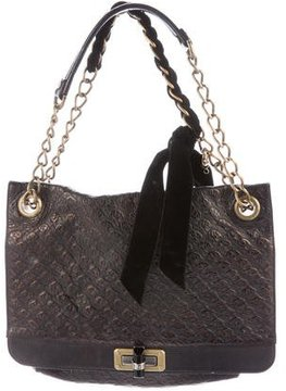Lanvin Embossed Leather Happy Bag