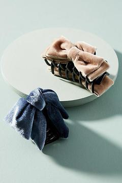 Anthropologie Velvet Bow Hair Clip Set