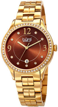 Burgi Unisex Gold Tone Bracelet Watch-B-180ygbr