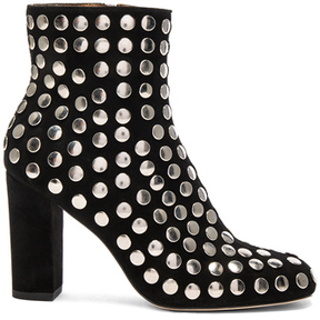 IRO Embellished Suede Bootroky Boots in Black.