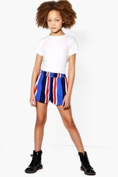 boohoo Girls Stripe Runner Shorts