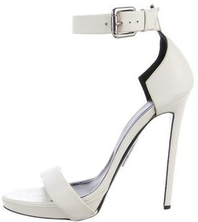 Thomas Wylde Leather Ankle Strap Sandals
