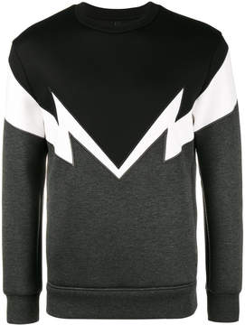 Neil Barrett Bolt to bolt embroidered sweatshirt