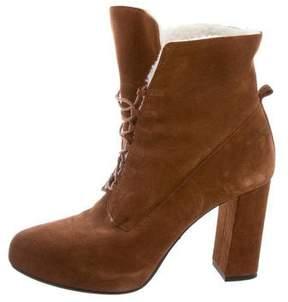 Diane von Furstenberg Pointed-Toe Suede Ankle Boots