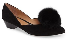 Linea Paolo Women's Camille Pump With Genuine Rabbit Fur Pom