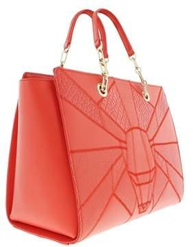 Roberto Cavalli Medium Handbag Elisabeth 002 Coral Satchel Bag.