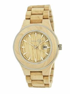 Earth Cherokee Collection ETHEW3401 Unisex Wood Watch with Wood Bracelet-Style Band