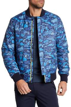 Michael Bastian Camp Print Insulated Bomber